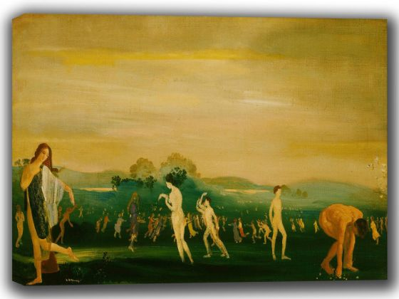 Davies, Arthur Bowen: Elysian Fields. Fine Art Canvas. Sizes: A4/A3/A2/A1 (002617)